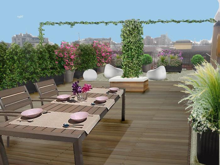 Maestri giardini progetti di giardini - Progettazione terrazzi milano ...
